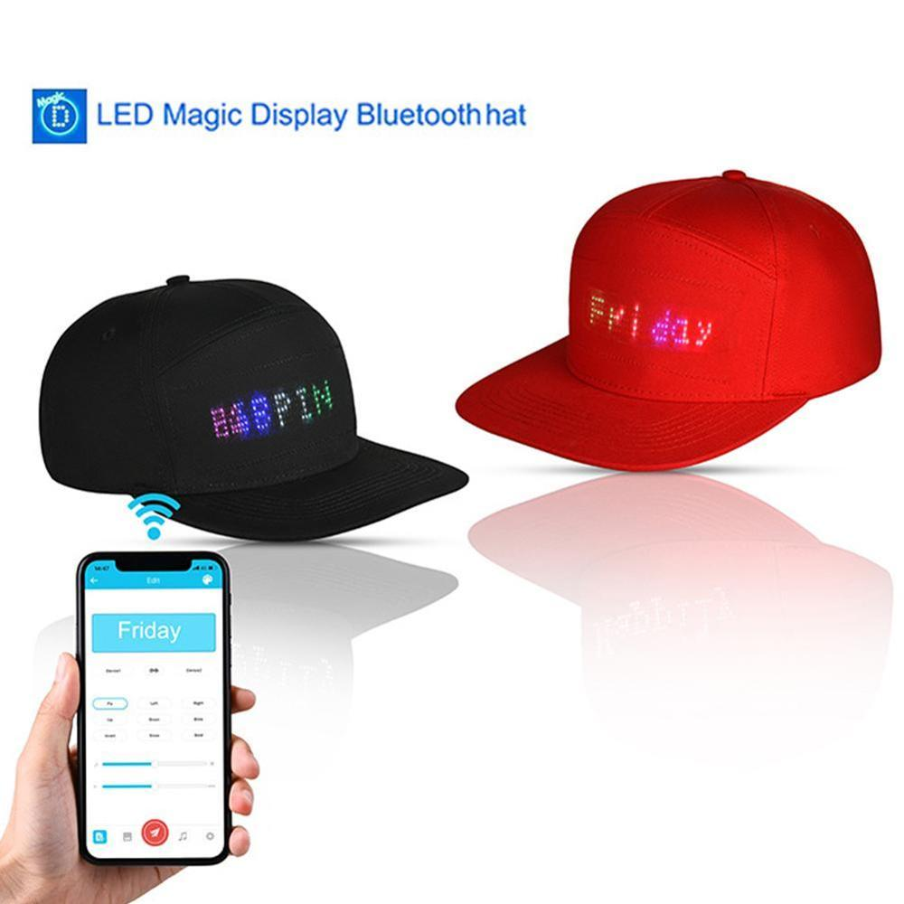 LED Message Hat for Men and Women with Bluetooth Used for Party or Hip Hop dance 1