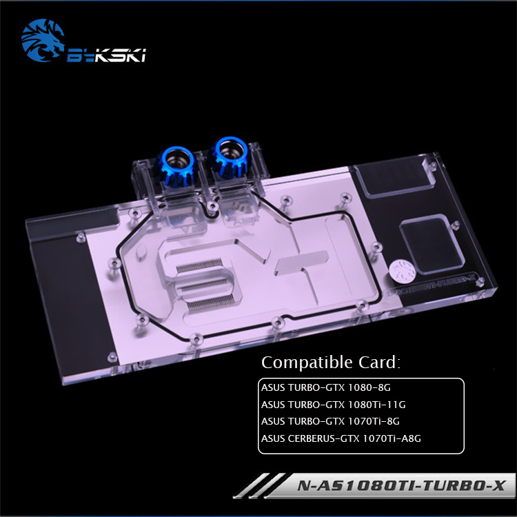 Bykski GPU Water Block for ASUS TURBO GTX 1080 8G 1080Ti 11G GTX 1070Ti 8G/ASUS CERBERUS GTX 1070Ti A8G N-AS1080TI-TURBO-X image