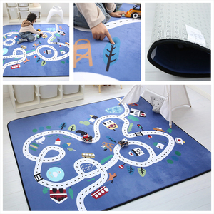 Image 5 - Child Play Mats Baby Crawling Mat Velvet Slow Rebound Thickened Carpet Anti skid Crawling Pad Decorate Living Room for Children