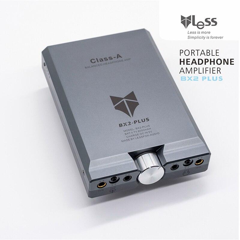 1 PCS Portable LESS  BX2 PLUS dual channel output HI END AMP Full balance earphones and headphone amplifier