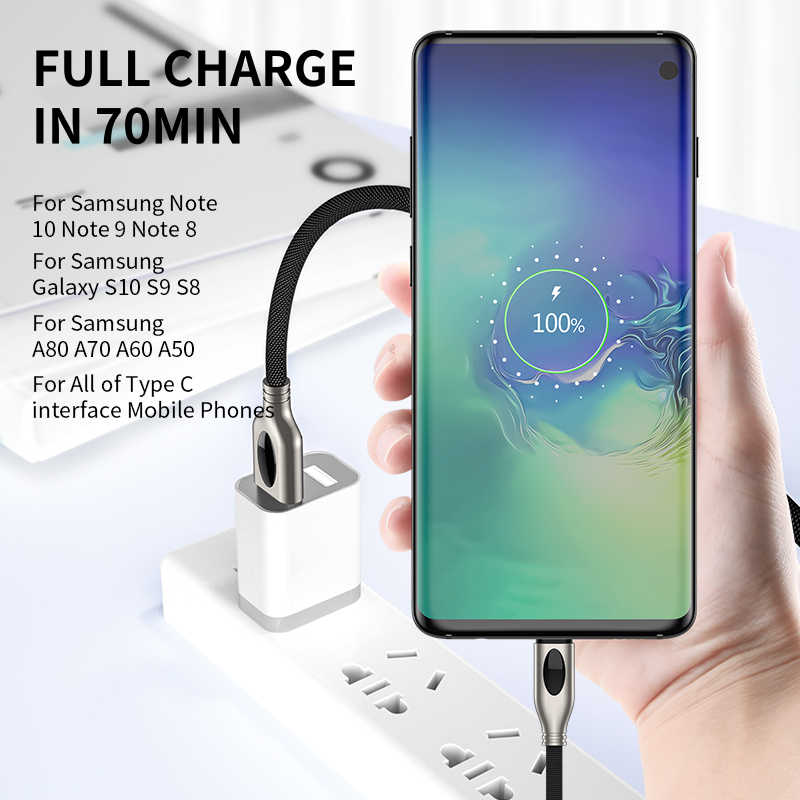 Tipo C Cabo USB Para Samsung Galaxy S10 iHaitun S9 S10E Plus A50 Nota 10 9 8 Carga Rápida 3.0 PD 4.0 Dados Carregador Do Telefone Oneplus