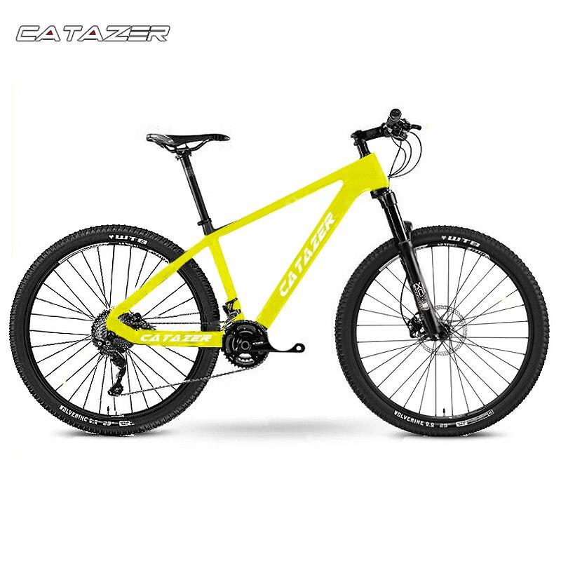 CATAZER Carbon Mountain font b Bike b font 17 19 21 With Carbon Fiber Frame 27