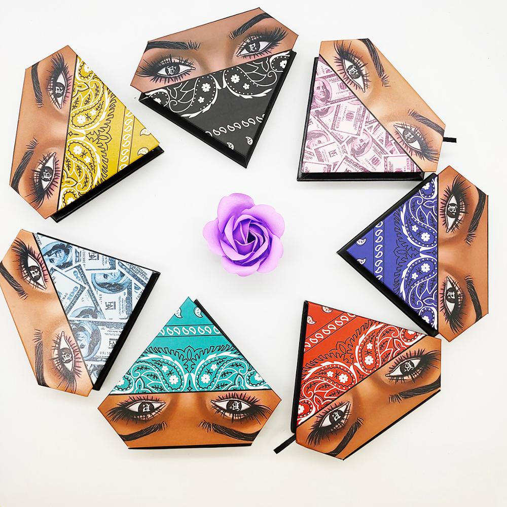 Diamond Eyelash Box Collection Hot Sale Mink Eyelashes Packaging Box Custom Mink Lash Case Eyelash Business Supplier