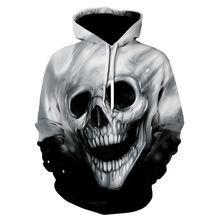 Толстовка мужская с 3d принтом черепа Модный свитшот капюшоном
