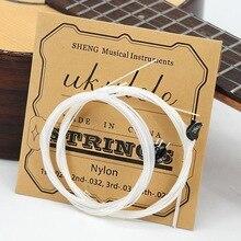 4 Pcs/set Soprano Ukulele Strings Set Nylon Ukulele Strings Replacement Part Stringed Instrument