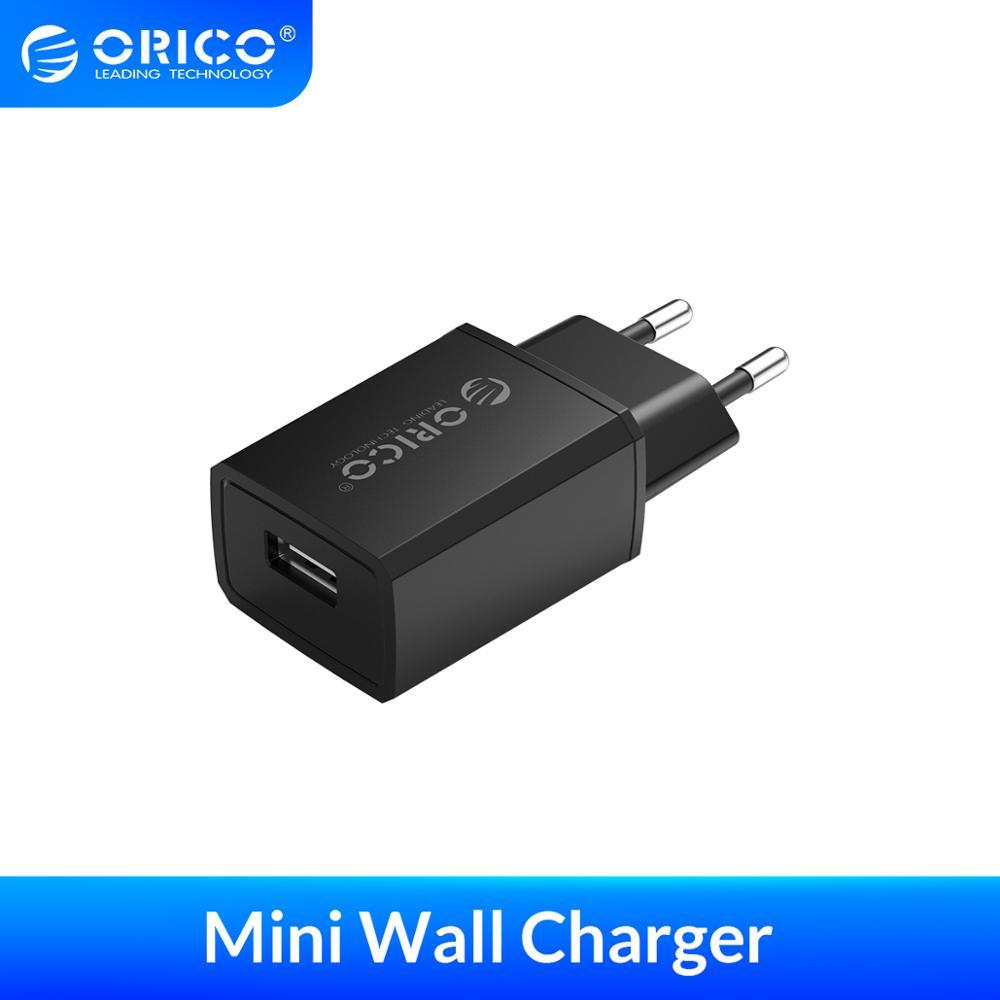 ORICO Mini USB Wall Charger 5V 1A 2A USB Travel Mobile Phone Charger EU Plug for Samsung Xiaomi mi 8 Huawei iphone