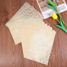 50 stücke Europäischen Stil Papier Retro Schreiben Papier Vintage Brief Papier Romantische Schreibwaren (Licht Kaffee Jasmin)
