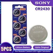 5 шт./лот Sony CR2430 CR 2430 DL2430 BR2430 KL2430 кнопочный Аккумулятор для часов наушников слуховых аппаратов игрушка 3 В литиевая батарея