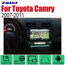 ZaiXi Auto Radio 2 Din Android Car Player For Toyota Camry 2007~2011 GPS Navigation BT Wifi Map Multimedia system Stereo zaixi android 2 din auto radio dvd for toyota camry 2007 2011 car multimedia player gps navigation system radio stereo