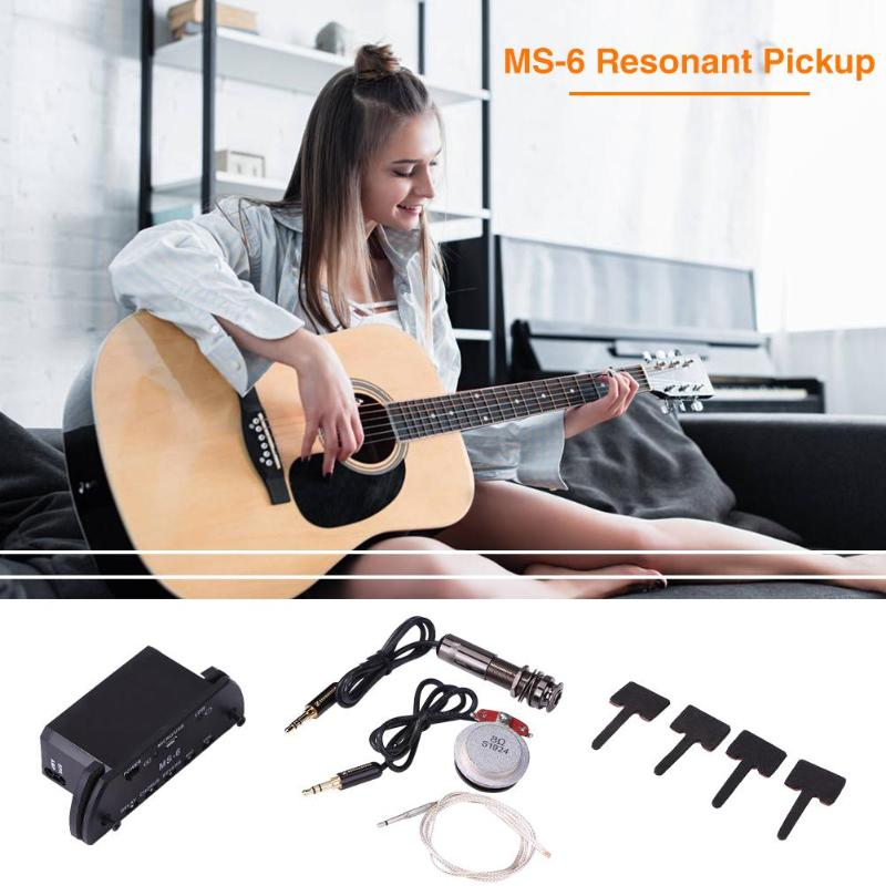 Offre spéciale guitare résonance Picku plastique remplacement accessoires guitare acoustique ballade guitare résonance Pick Up Enhancer