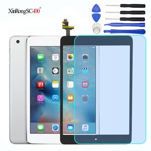 For iPad Mini 1 2 Mini1 Mini2 A1432 A1454 A1455 A1489 A1490 A1491 Lcd Touch Screen Digitizer+IC Chip Connector Flex+Key Button(China)