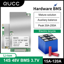 Qucc BMS 14S 48V Lithium Battery Protection Board Electric Scooter Bike Li ion Battery BMS 15A 20A 30A 40A 50A 60A 80A 100A 120A