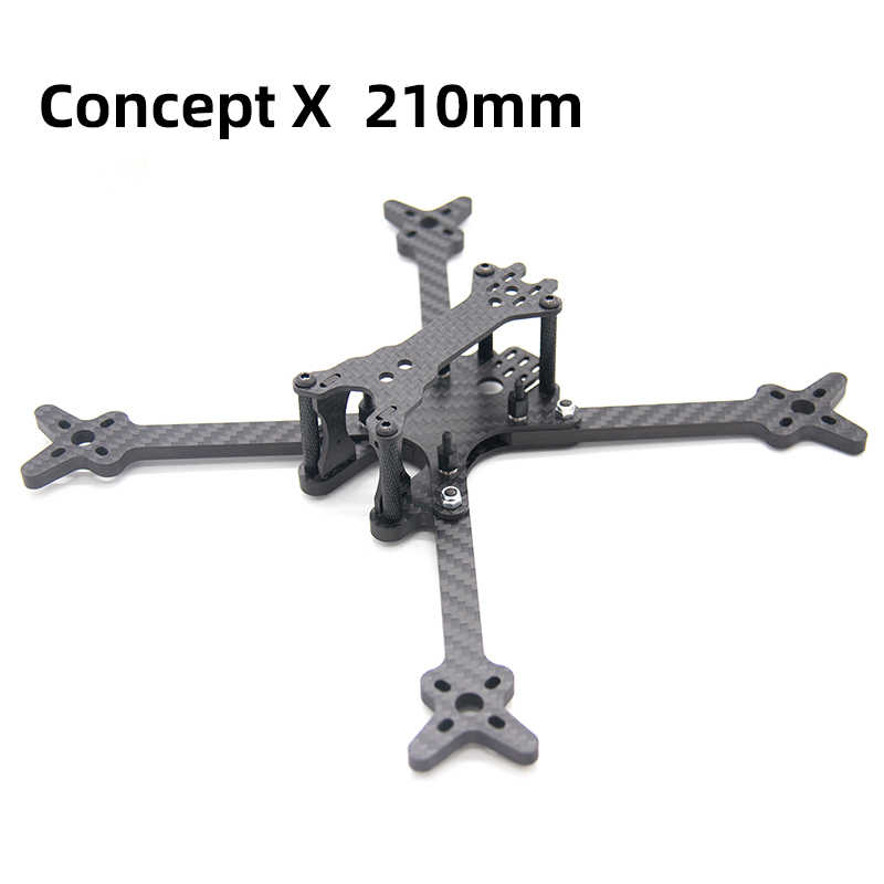 TCMMRC 5 inch Drone Frame Concept X 210 Wheelbase 210mm 5mm Arm Carbon Fiber for FPV Racing Drone Quadcopter