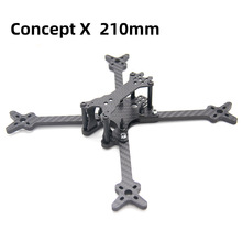 TCMMRC 5 inch Drone Frame Concept X 210 Wheelbase 210mm 5mm Arm Carbon Fiber for FPV Racing Drone Quadcopter diy mini fpv f2 mito 210 pure carbon fiber 210mm frame unassembled for diy racing drone quadcopter