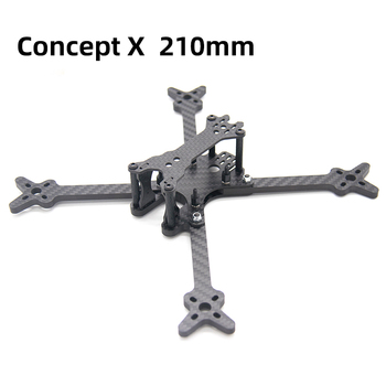 TCMMRC 5 inch Drone Frame Concept X 210 Wheelbase 210mm 5mm Arm Carbon Fiber for FPV Racing Drone Quadcopter zmr 200 through four axis quadcopter frame 200 all metal head one carbon fiber plate 4mm lightweight racing for uav fpv flysky