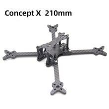 TCMMRC cadre de Drone 5 pouces X 210, base de roues, bras de 210mm 5mm en Fiber de carbone, pour course de Drone FPV quadrirotor