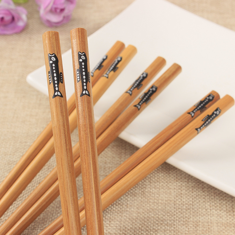 Купить 50 пар ручных палочек для еды из натурального бамбука здоровые