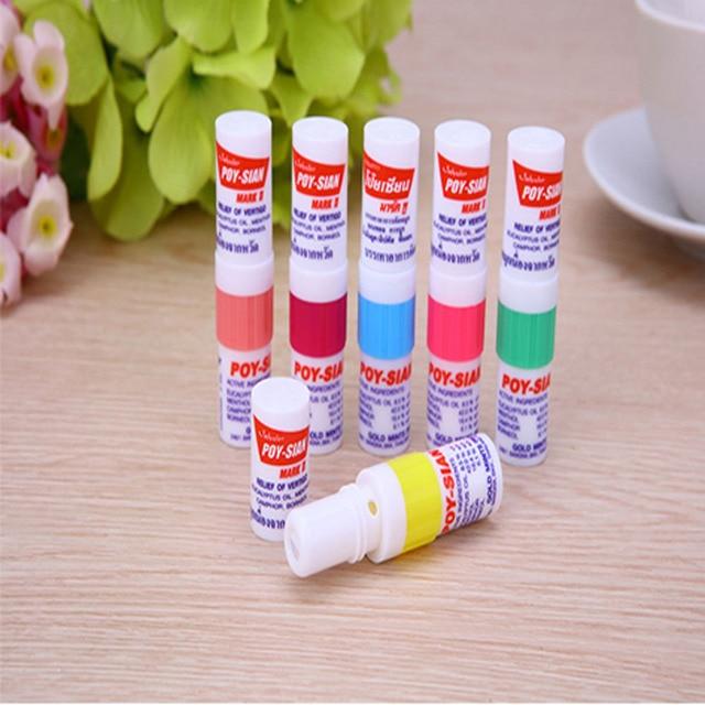 100% New Thailand Nasal Inhaler Poy sian Mark 2 Herbal Nasal Inhaler Poy Sian Stick Mint Cylinder Oil Brancing Breezy Asthma 2
