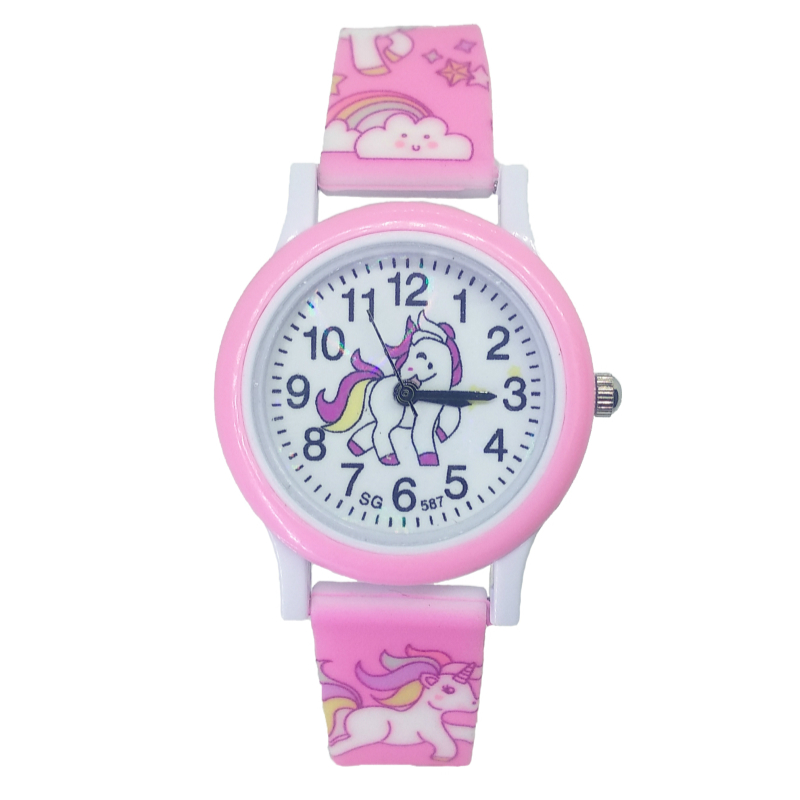 Children Fashion Cute Unicorn Cartoon Girls Boys Child Pony Clock Student Sport Kids Watch Baby Watch Baby Birthday Party Gifts