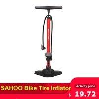 Sahoo bicicleta pneu inflator piso da bomba de ar com 170psi calibre alta pressão bomba para bicicleta acessórios compressor ar|Bombas bic.| |  -