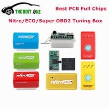 Chips completos Eco Nitro OBD2, caja de sintonización de Chip Benzine Diesel EcoOBD2, ahorro de combustible, botón de Reinicio, más potencia, Super OBD2