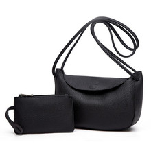 Female Bag Handbag One-Shoulder Trendy Korean-Fashion Soft Versatile Classic Lychee-Pattern