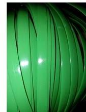 65Meters(500g)  Width:8mm Green Gradient Flat Synthetic Rattan Weaving Material Plastic Knit Repair Chair Table PE Rattan