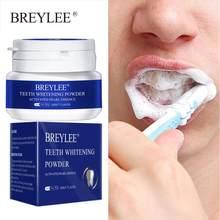 Breylee pó para branqueamento dental, essência de pérola para clareamento e limpeza oral, remove efetivamente as manchas de placa tslm1