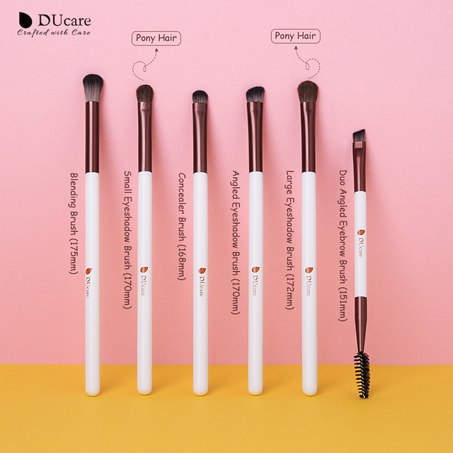 DUcare Eyeshadow Brush 4/6/8PCS Makeup Brush set Blending Eyebrow Brush Nature Hair Synthetic  Hair Eye Shadow Brush Set 5