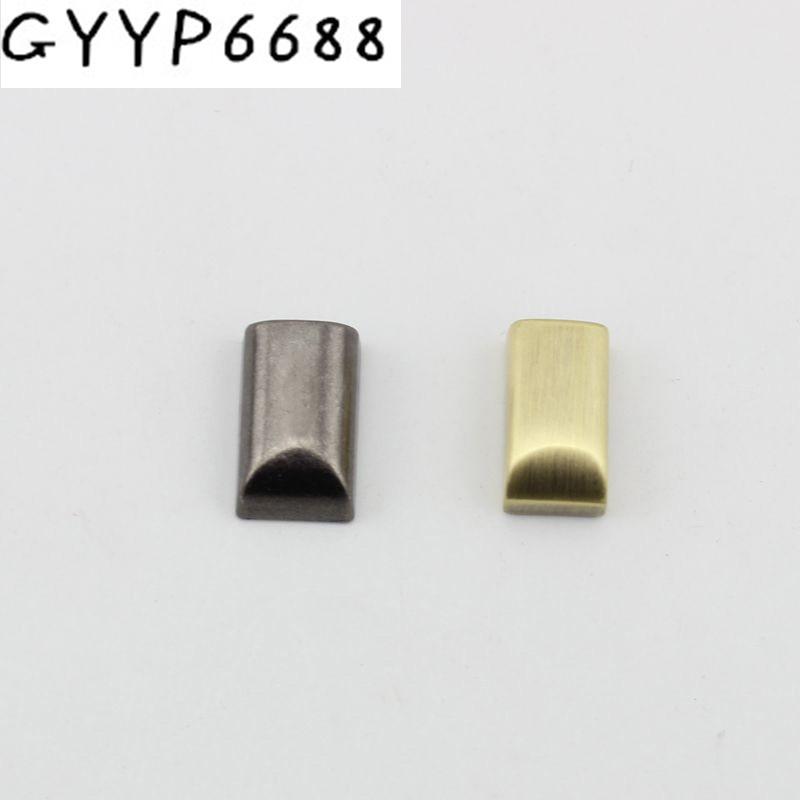 18X10mm 6 Colors Handbag Purse Zipper Decoration End Clips By Screws,silver Color Strap Cover Clasp Accessory