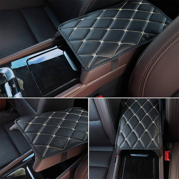Car Armrest Mat Storage Box Mats Pad for Jeep Renegade Grand Cherokee Compass Wrangler Fiat 500 Punto Stilo Cadillac CTS image