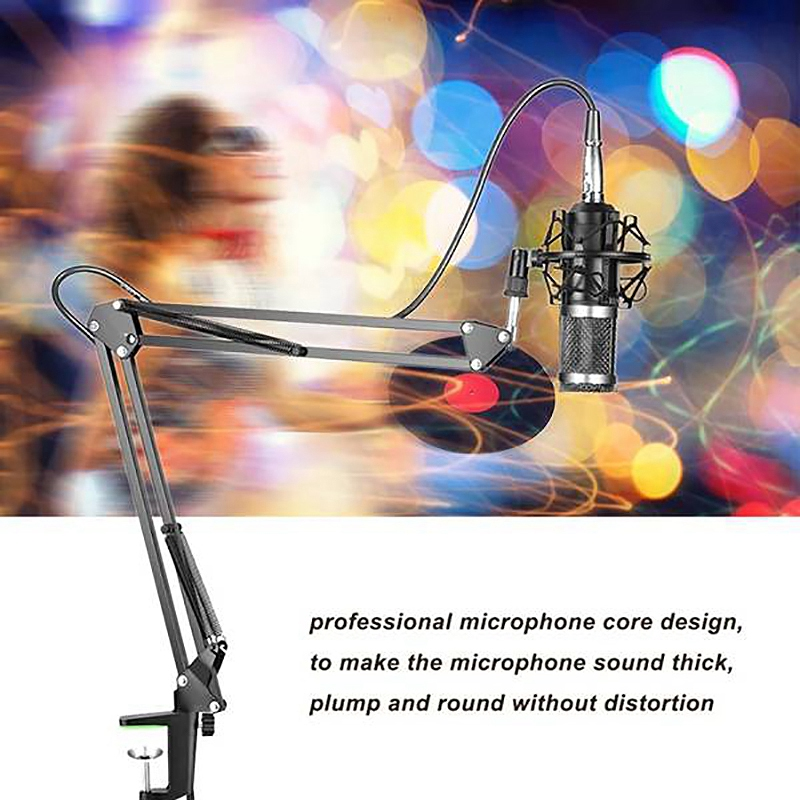 vivo gravação grande diafragma condensador microfone conjunto
