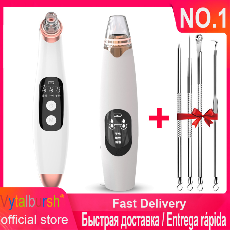 Blackhead Remover Face Skin Care Deep Pore Cleaner Acne Pimple Removal Vacuum Suction Facial SPA Diamond Beauty Care Tool