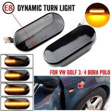 For Volkswagen For VW Bora Golf 3 4 Passat 3BG Polo SB6 SEAT Ibiza Leon Skoda Blinker Light Car Dynamic Side Marker Signal Light