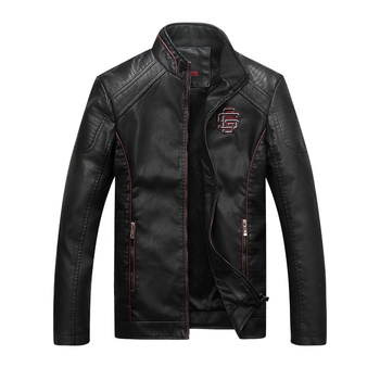 Faux Leather Jackets Men Classic Motorcycle Bike Cowboy Jacket Asian Size Winter Warm Coat Male Thick Coats 5XL High Quality 16