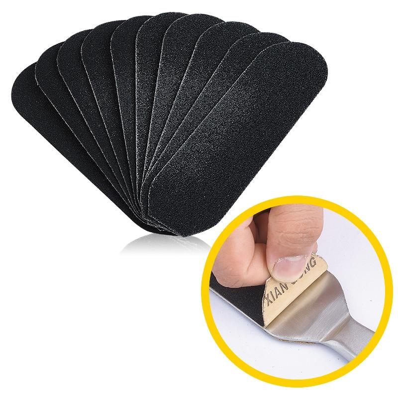 200pcs 13.3*4.2cm Foot Rasp Replacement Refill Sanding Paper Sandpaper Cloth Pedicure Stainless Metal Handle Feet Care Files