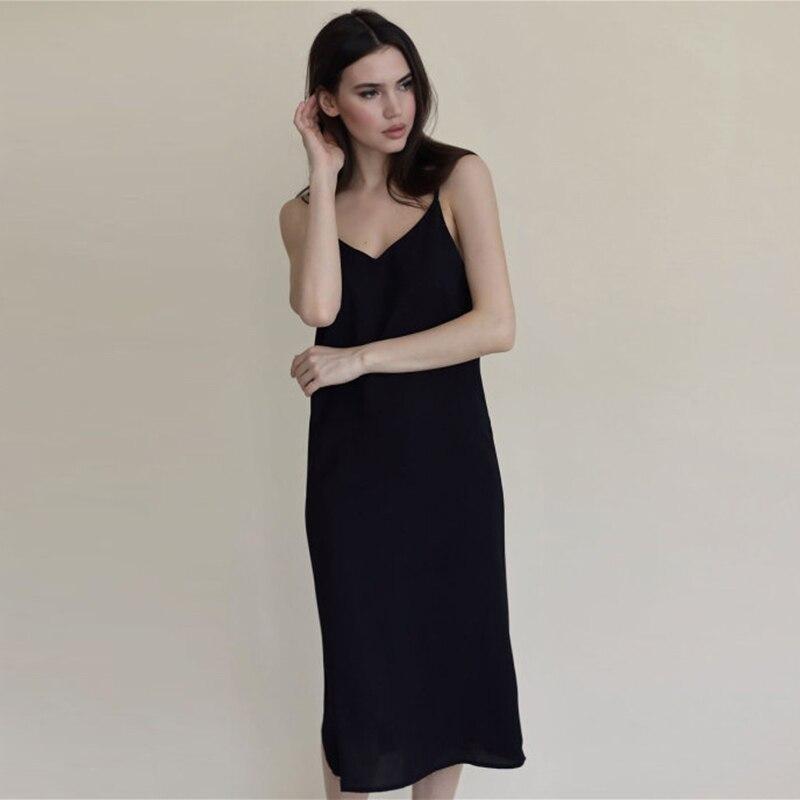 Sexy Black Sleeveless Suspender Long Dress Women Fashion Halter Slim Fit Elegant Charming Party Dating Summer Dress For Women