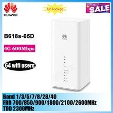 Desbloqueado huawei b618 B618S-65D com slot para cartão sim cat11 600mbps 4g lte modem roteador cpe 64 usuários wifi pk B618S-22D B618S-66