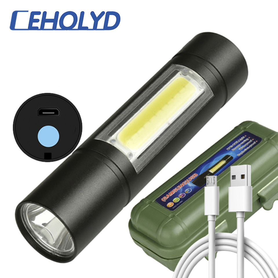 XP-G Q5 Built In Battery Penlight Zoom Led Flashlight Torch Lamp Waterproof Shock Resistant,hard Light Bulbs