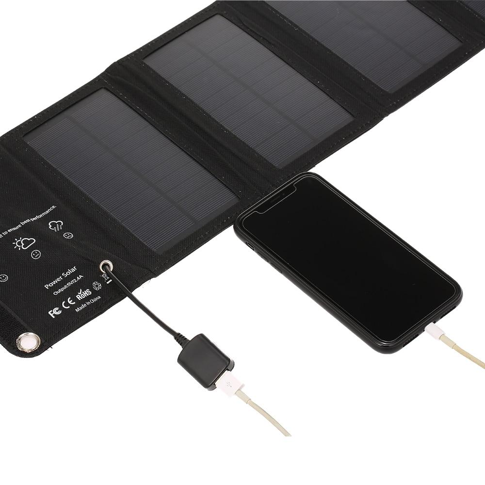 10w 5v carregador solar portatil com porta 04