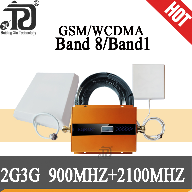 усилитель сотовой связи  2G GSM 900 3G 2100 Cell Phone Signal Repeater Cellular Booster GSM WCDMA UMTS 2100 2G 3G 4G Signal