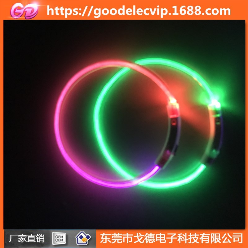 Led Usb Charging Pet Collar Night Light Collar Dog Small, Medium And Large Cat Neck Ring Electronic Dog Bandana