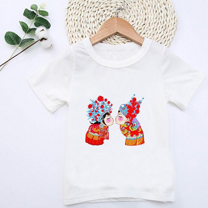 Nueva camiseta para niños Fille estilo chino Harajuku niño n