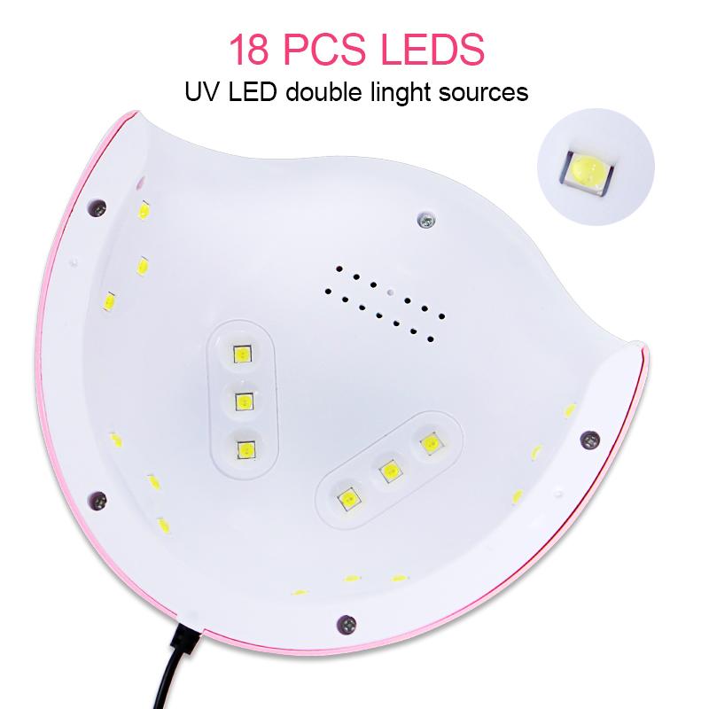 18 PCS Leds * UV leds double licht sources
