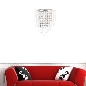 Image 2 - מודרני קריסטל מנורת קיר כרום פמוט קיר אור רחצה סלון בית מקורה תאורת קישוט הנורה לא כלול