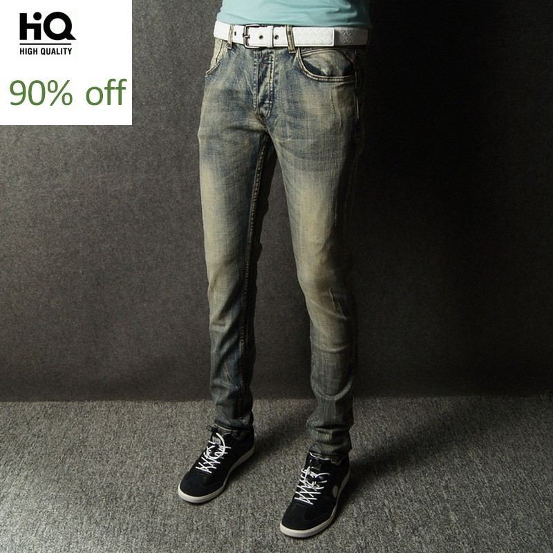 New Slim Fit Denim Pants Italian Style Vintage Design Mens Jeans Brand Jeans High Quality Fashion Streetwear Classic Clothes Men