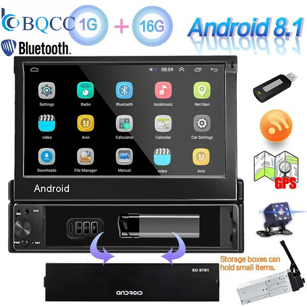 Android 8.1 Car Multimedia player 2 Din GPS Navigation Autoradio WiFi Bluetooth Radio Audio Stereo USB FM MP5 Player image