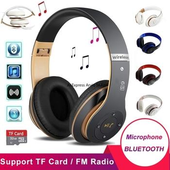 Słuchawki bezprzewodowe słuchawki z redukcją szumów zestaw słuchawkowy Bluetooth 5 0 składany zestaw głośnomówiący słuchawki douszne HIFI Stereo na Pc iPhone tanie i dobre opinie Arvin Ortodynamiczna CN (pochodzenie) wireless Do kafejki internetowej Do gier wideo Słuchawki HiFi Sport NONE instrukcja obsługi