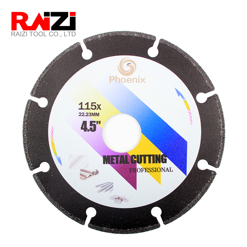 Raizi 100/115/125 Mm Metal Cutting Disc Saw Blade For Angle Grinder Steel Stainless Steel Aluminum Diamond Metal Disc