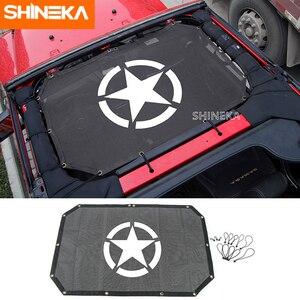 Image 4 - SHINEKA 2 דלתות שמשייה קדמי גג רשת ביקיני למעלה גג רשת שמש UV מגן רכב כיסוי עבור ג יפ רנגלר 2007 2017 אביזרים